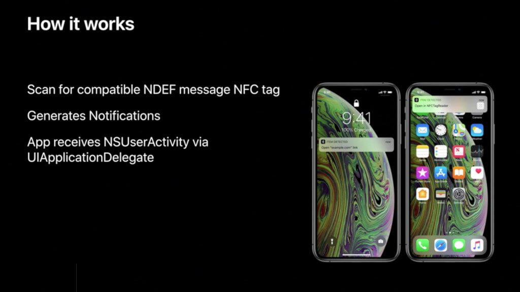 I nuovi iPhone Xs e XR possono leggere i Tag NFC nativamente e in background